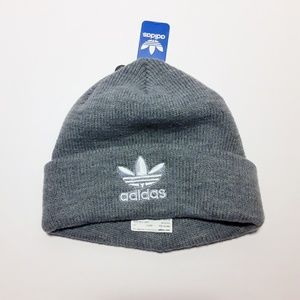 Adidas Grey Trefoil Beanie Hat